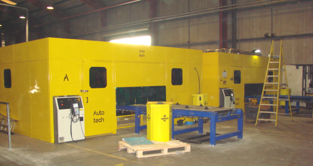 3rd shuttle type A+ welding system for Manufacturing Trailers