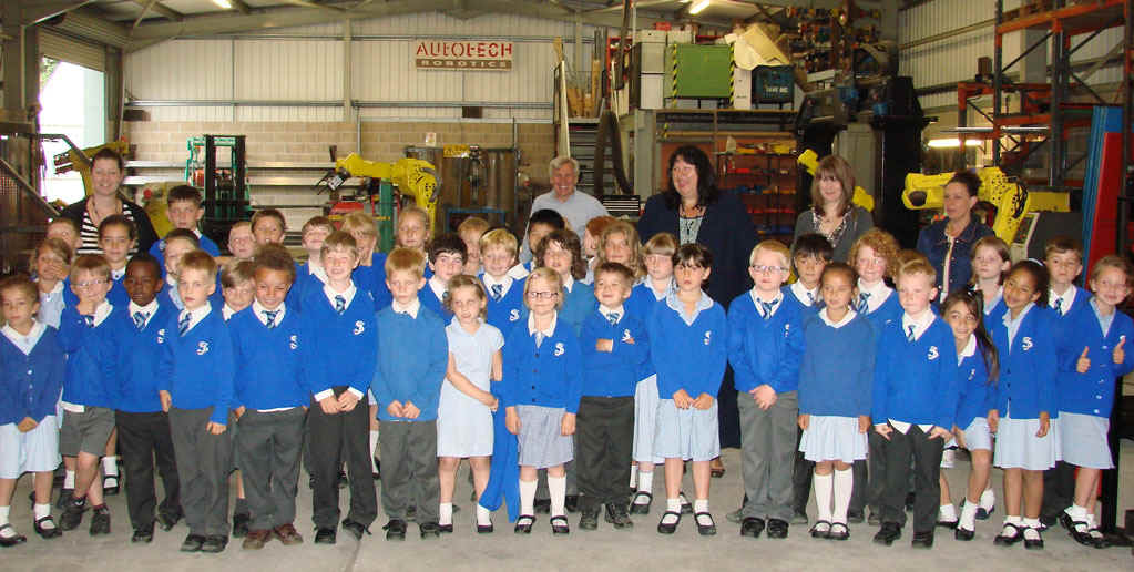 Recent visit of a local primary school to see the robots